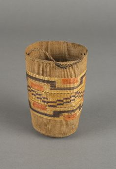 unknown Tlingit artist (Tlingit), Basketry Cup, 1850/1880 spruce root. Museum Purchase: Indian Collection Subscription Fund, Rasmussen Collection of Northwest Coast Indian Art. Portland Museum of Art. No known copyright restrictions. 48.3.655