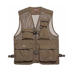 Tectop Men's Polyester Khaki and Army Green Colors Waterproof Vest Fishing Waistcoat.