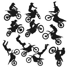 Dirt Biker Bike Svg Cuttable Designs por CuttableSVG en Etsy