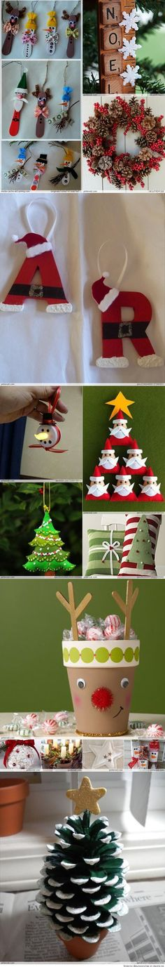 Christmas Crafts-my momma and I will be doing some of these. Great project for students for their parents as well.