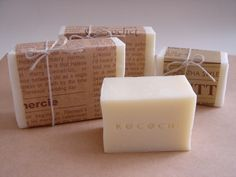 Newspaper as packaging for CP soap