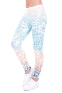 Mandala Mint Ombre 3d Floral Women's Leggings Seamless Brand Girls New – Juliana's Leggings Boutique and etc.