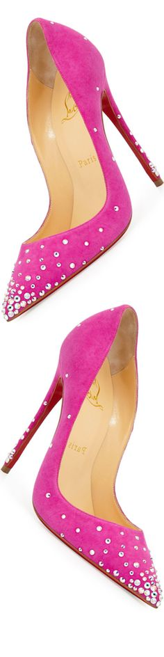 Christian Louboutin Degrastrass Suede 120mm Red Sole Pump, Indian Rose