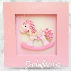 Cuadrito de maderA Box Frame Ideas Diy Crafts, Cool Diy Projects, Craft Ideas, Clay Crafts, Felt Crafts, Polymer Project, Biscuit, Baby Frame, Clay Baby