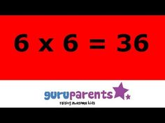 Times tables song 6 - YouTube Multiplication Facts Games, Multiplication And Division, Science Resources, Math Activities, Times Tables, Math Workshop, 4th Grade Math, Math Classroom, Kids Education