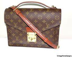 Vintage Louis Vuitton Monceau Cross Body Bag