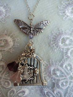 Silver wish door necklace fairy wish door by Charsfavoritethings, $28.00