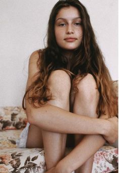 Laetitia Casta, young, no makeup