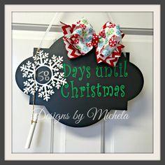 Days til Christmas Chalkboard, GF002