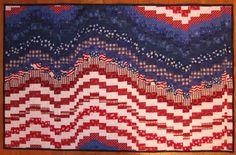 Patriotic Bargello quilt. | Americana flag quilts | Pinterest
