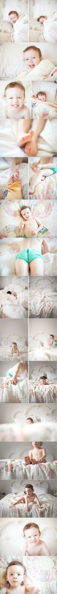 Ideas for birthday photo shoot...like a newborn shoot, close ups of body parts, but how they've grown
