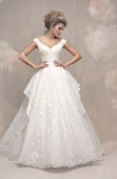 Wedding Dress by Allure Couture - Search our photo gallery for pictures of wedding dresses by Allure Couture. Find the perfect dress with recent Allure Couture photos. Bridal Gown Styles, Bridal Wedding Dresses, Dream Wedding Dresses, Wedding Bells, 2017 Wedding, Floral Wedding, Lace Wedding, Allure Couture, Selfies