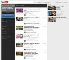 YouTube-Startseite vom 17. Juni 2012