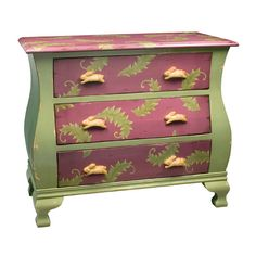 Green And Purple Rabbit Chest Sterling Industries Chests Accent Cabinets & Chests Accent F