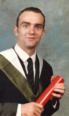 Perry O'Donovan as a new-minted graduate, University of Edinburgh, 1990 Edinburgh, University, Community College, Colleges