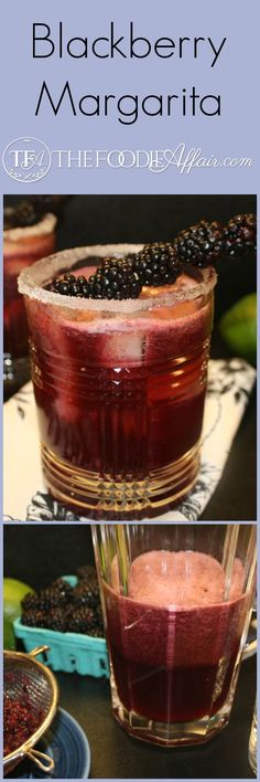 Step away from the yellow/green margarita mix, and treat yourself to a good tasting margarita. Fresh blackberries are full of antioxidants too! The Foodie Affair #cocktail #margarita #recipe