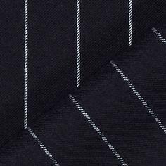 Triple Pinstripe 1 - Poliéster - Lã virgem - naval