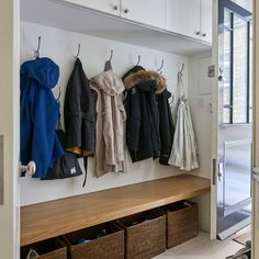 Choose your perfect laundry room design from our pictures of the best traditional utility rooms. Boot Room Storage, Laundry Room Storage, Laundry Room Design, Basement Storage, Porch Storage, Basement Windows, Basement Flooring, Basement Gym, Basement Ideas