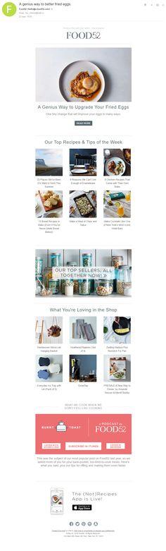 FOOD 52: гиф-эксперименты на тему еды. Ну как не нажать «Читать дальше»?  #emailmatrix #emailmonitoring #design #emailmarketing #email