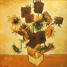 Vincentt2 [square], 100x100,  Daria Solar Art, a painter from the #lovingvincent team, http://www.dariasolar.eu/  #sunflowers #vincentvangogh #art #słoneczniki #lovingvincent