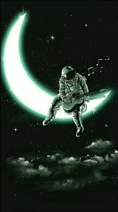Music Man In The Moon Cross-Stitch Pattern Space Artwork, Space Drawings, Wallpaper Space, Dark Wallpaper, Galaxy Wallpaper, Wallpaper Backgrounds, Screen Wallpaper, Phone Wallpapers, Wallpaper Quotes