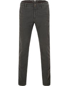 Incotex Slim Fit Garment Dyed Washed Chino Grey i gruppen Byxor hos Care of Carl (13046111r)