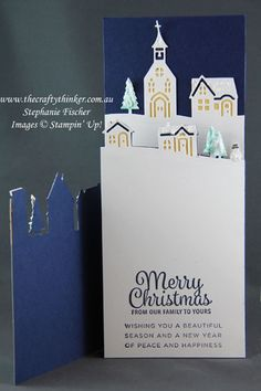 www.thecraftythinker.com.au, Holiday Catalogue sneak peek, Hometown Greetings, Trifold, Christmas, #thecraftythinker, Stampin' Up