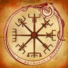 A Vegvisir.  I like the graphics of this symbol.