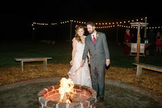 TAMPAWEDDINGOFFICIATE.com / Tampa Officiant and Notary Rev Les Davis 727-310-4495 / Bonfire at Lana and Bryan's wedding on 10/30/15 at Cross Creek Ranch in Dover, Florida. 813-651-0934 Call today to book your wedding!