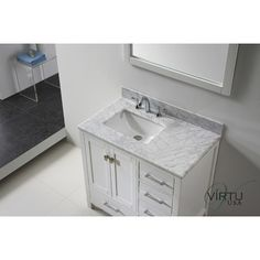 36 Inch Bathroom Vanity With Offset Sink virtu usa 36 square