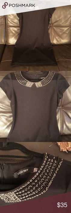 Little black dress Little black dress by Eileen Tracey. Knee length. Beaded neck. Hidden zipper Ellen Tracy Dresses