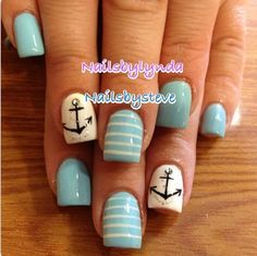 anchors nail designs - Google Search