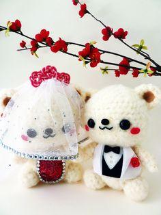 Wedding Bears Amigurumi