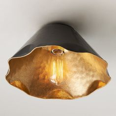 Ruffled Edge Hammered Metal Ceiling Light - Small : Check out Ruffled Edge Hammered Metal Ceiling Light from Shades of Light Ceiling Light Shades, Ceiling Light Design, Ceiling Light Fixtures, Ceiling Lights, Lighting Shades, Lighting Design, Ceiling Fans, Lighting For Low Ceilings, Lighting Ideas