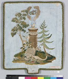 Metropolitan Museum of Art - Hand screen - Date: 1814 Culture:  German Medium: Silk Dimensions: Not recorded. Classification: Textiles, Friedrich Fischbach , Wiesbaden, Germany, 1909; sold to MMA