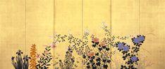 (Japan) Gold Folding Screens by Kouitsu Yamamoto.