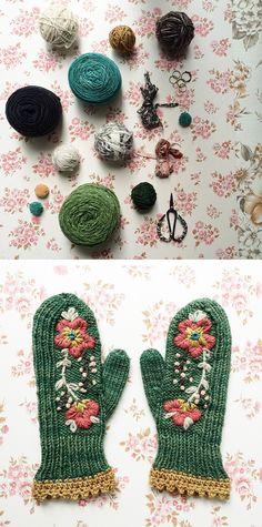 Our Tools, Ourselves: Tif Fussell (dottie angel) - Fringe Association Knitting Projects, Crochet Projects, Knitting Patterns, Crochet Patterns, Crewel Embroidery, Cross Stitch Embroidery, Crochet Gloves, Knit Crochet, Dottie Angel