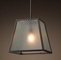 "Modern Filament Wire Glass 17"" Pendant - Bronze"