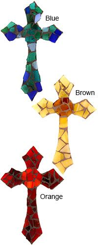 Mosaic Glass Celtic Wall Cross at The Veterans Site