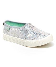 Another great find on #zulily! Silver Shimmer Edie Slip-On Sneaker #zulilyfinds