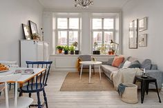 It's pouring with rain in Southern Sweden today but it hasn't been like this for so long there's something strangely comforting about it! Do you find this sometimes? Today's home tour is of a fairly s