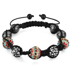 Pugster Triple Colorful Rhinestone Disco Ball Heidan Beads Adjustable Braceletcrystal Swarovski Crystal Stone Balls Bracelet (36 Colors To Choose From) Pugster. $69.49. Metal: Silver Stone. Weight (gram): 48.7. Color: Colorful. Size (mm): 13.95*8.15*8.58