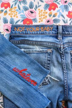 DIY: Embroidered Jeans | Le Fashion | Bloglovin'