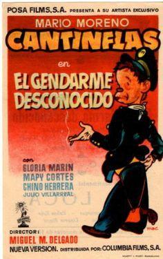 Folleto EL GENDARME DESCONOCIDO Mario Moreno CANTINFLAS, Mapy Cortés