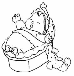 Baby Screaming Because He is Hungry Coloring Page