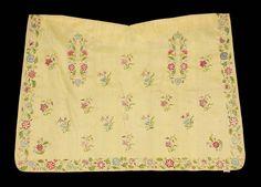 18th century English apron of yellow taffeta | Museum of Fine Arts, Boston