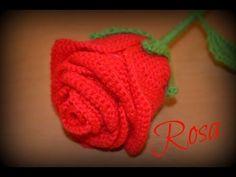Rosa || Ganchillo o crochet. - YouTube