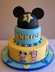 Baby Mickey Cake by cakespace - Beth (Chantilly Cake Designs), via Flickr
