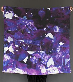Want! Gem Scarves. Gems are photographed, blown up, and made into crepe de chine scarves. By Cisthene.