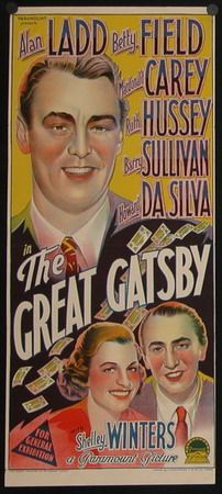 The Great Gatsby 1949   Movie Poster- I chose this picture because it shows how they advertised the movie with posters.